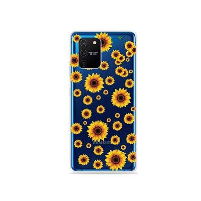 Capa (Transparente) para Galaxy S10 Lite - Girassóis