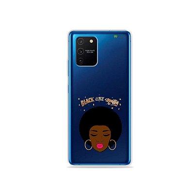 Capa (Transparente) para Galaxy S10 Lite - Black Lives