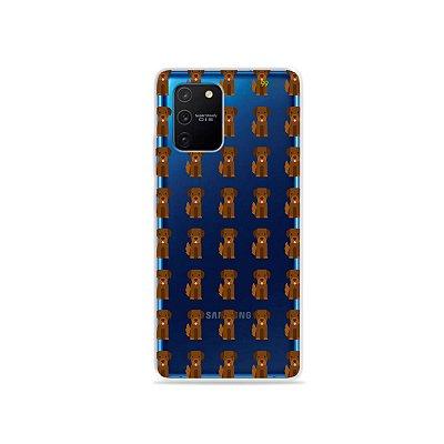 Capa (Transparente) para Galaxy S10 Lite - Golden