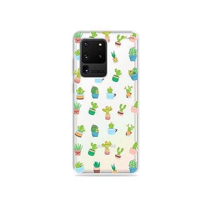 Capa (Transparente) para Galaxy S20 Ultra - Cactus