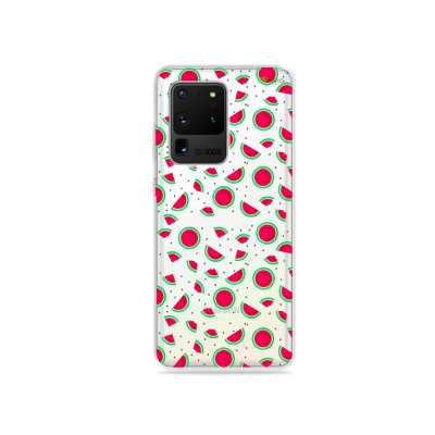Capa (Transparente) para Galaxy S20 Ultra - Mini Melancias
