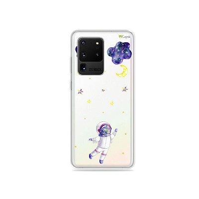 Capa (Transparente) para Galaxy S20 Ultra - Astronauta Sonhador