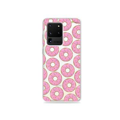 Capa (Transparente) para Galaxy S20 Ultra - Donuts