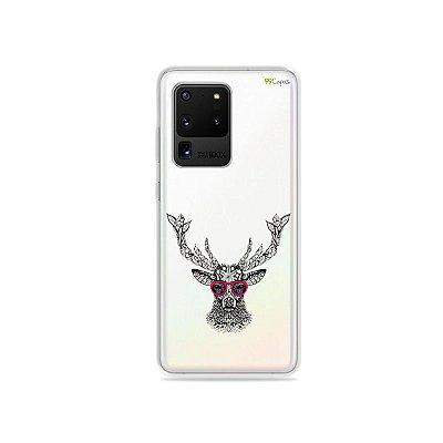 Capa (Transparente) para Galaxy S20 Ultra - Alce Hipster
