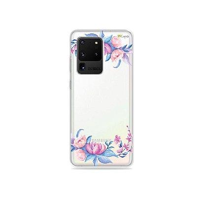 Capa (Transparente) para Galaxy S20 Ultra - Bromélias