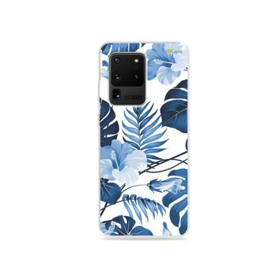 Capa para Galaxy S20 Ultra - Flowers in Blue
