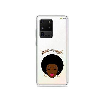 Capa (Transparente) para Galaxy S20 Ultra - Black Lives