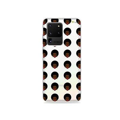Capa (Transparente) para Galaxy S20 Ultra - Black Girl