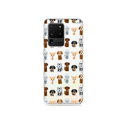 Capa (Transparente) para Galaxy S20 Ultra - Doguinhos