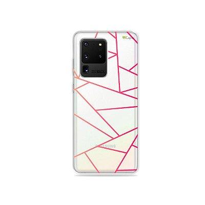 Capa (Transparente) para Galaxy S20 Ultra - Abstrata