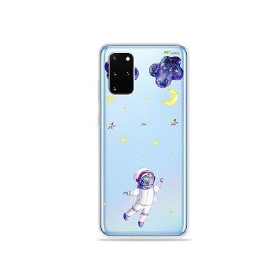 Capa (Transparente) para Galaxy S20 Plus - Astronauta Sonhador