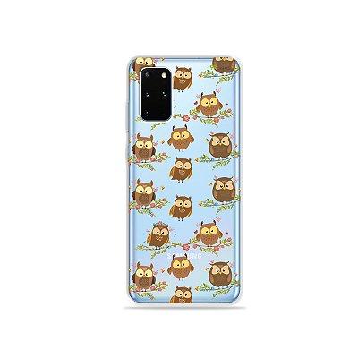 Capa (Transparente) para Galaxy S20 Plus - Corujinhas