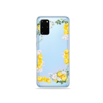 Capa (Transparente) para Galaxy S20 Plus - Yellow Roses