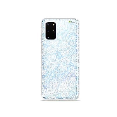 Capa (Transparente) para Galaxy S20 Plus - Rendada