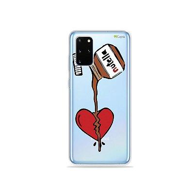 Capa (Transparente) para Galaxy S20 Plus - Nutella