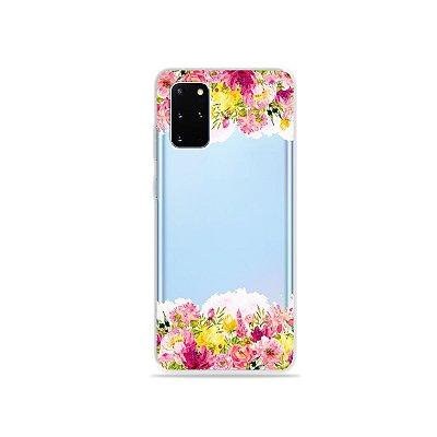 Capa (Transparente) para Galaxy S20 Plus - Botânica