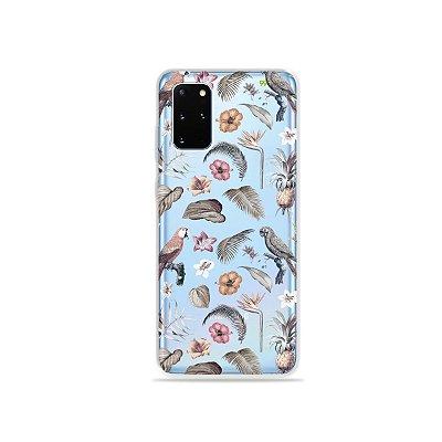 Capa (Transparente) para Galaxy S20 Plus - Sweet Bird