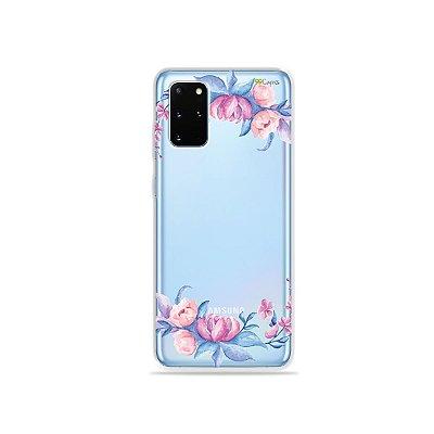Capa (Transparente) para Galaxy S20 Plus - Bromélias