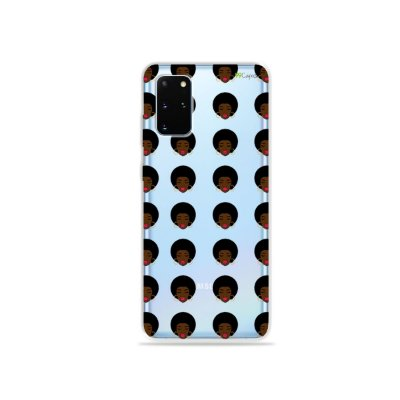 Capa (Transparente) para Galaxy S20 Plus - Black Girl