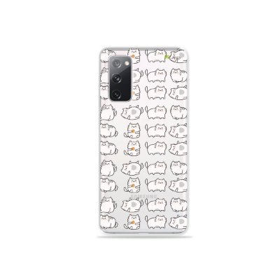 Capa (Transparente) para Galaxy S20 FE - Lazy Cat
