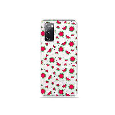 Capa (Transparente) para Galaxy S20 FE - Mini Melancias