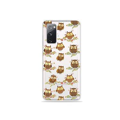 Capa (Transparente) para Galaxy S20 FE - Corujinhas