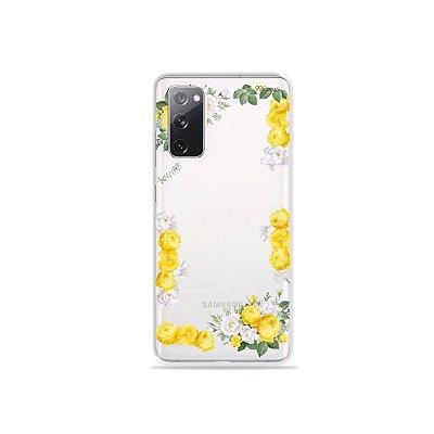 Capa (Transparente) para Galaxy S20 FE - Yellow Roses