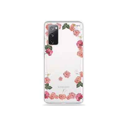 Capa (Transparente) para Galaxy S20 FE - Pink Roses