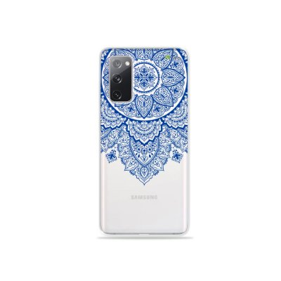 Capa (Transparente) para Galaxy S20 FE - Mandala Azul