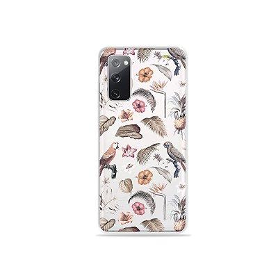 Capa (Transparente) para Galaxy S20 FE - Sweet Bird