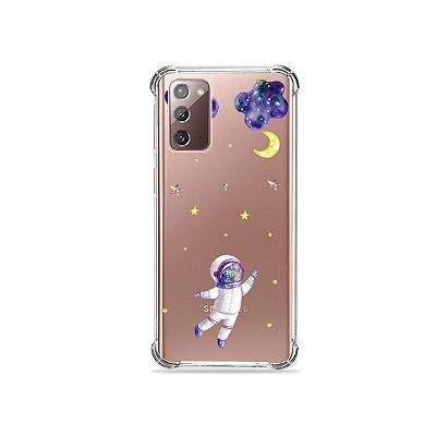 Capa (Transparente) para Galaxy Note 20 - Astronauta Sonhador