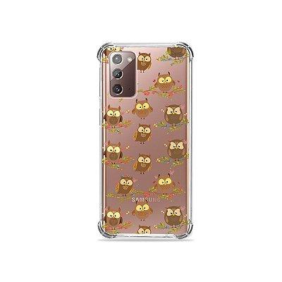 Capa (Transparente) para Galaxy Note 20 - Corujinhas