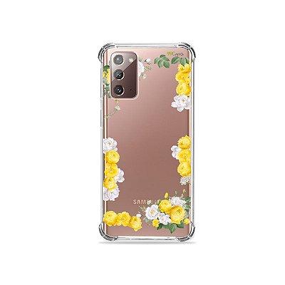 Capa (Transparente) para Galaxy Note 20 - Yellow Roses