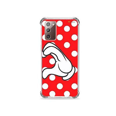 Capa para Galaxy Note 20 - Coração Minnie