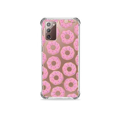 Capa (Transparente) para Galaxy Note 20 - Donuts