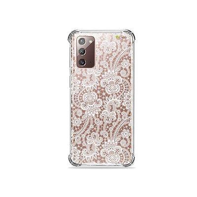 Capa (Transparente) para Galaxy Note 20 - Rendada