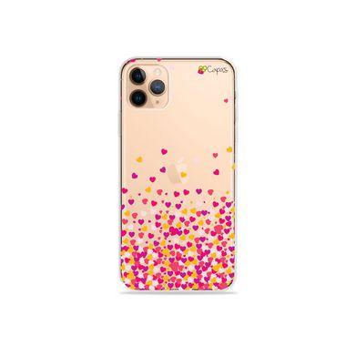 Capa para iPhone 12 Pro - Corações Rosa