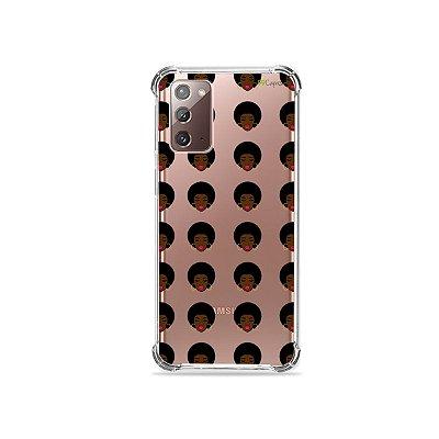 Capa (Transparente) para Galaxy Note 20 - Black Girl