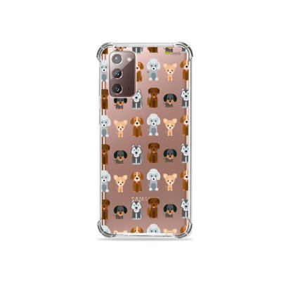 Capa (Transparente) para Galaxy Note 20 - Doguinhos