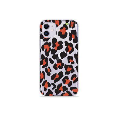 Capa (Transparente) para Iphone 12 - Animal Print Red