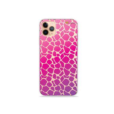 Capa (Transparente) para iPhone 12 Pro - Animal Print Pink