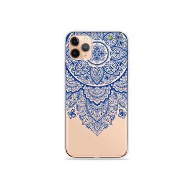 Capa (Transparente) para iPhone 12 Pro - Mandala Azul