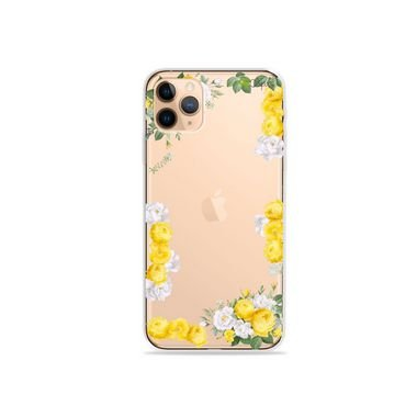 Capa (Transparente) para iPhone 12 Pro - Yellow Roses