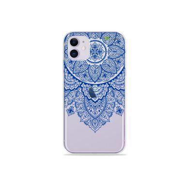 Capa (Transparente) para Iphone 12 Mini - Mandala Azul