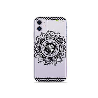 Capa (Transparente) para Iphone 12 Mini - Mandala Preta