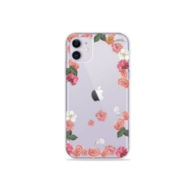 Capa (Transparente) para Iphone 12 Mini - Pink Roses