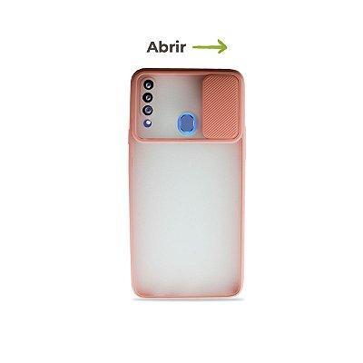Capinha Soft Rosa com proteção de câmera para Galaxy A20s  - 99Capas