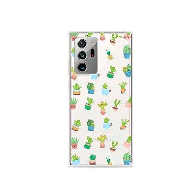 Capa (Transparente) para Galaxy Note 20 Ultra - Cactus