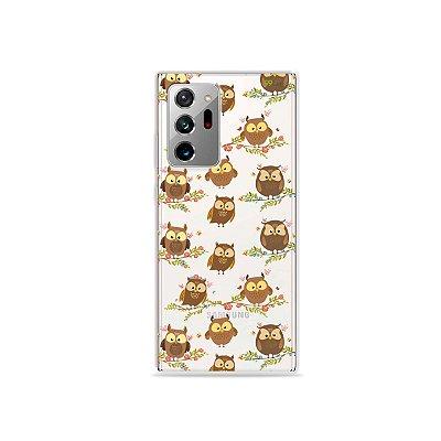 Capa (Transparente) para Galaxy Note 20 Ultra - Corujinhas