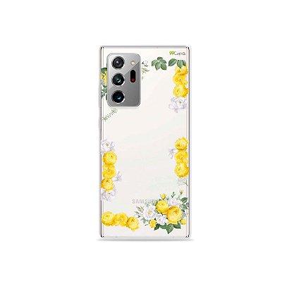 Capa (Transparente) para Galaxy Note 20 Ultra - Yellow Roses